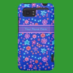 Custom HTC Vivid Tough Case, Ditsy Flowers, Blue: HTC Vivid Covers