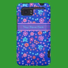 Custom HTC Vivid Tough Case, Ditsy Flowers, Blue: HTC Vivid Covers
