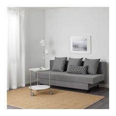 ASARUM Sofa trzyosobowa rozkładana - szary - IKEA