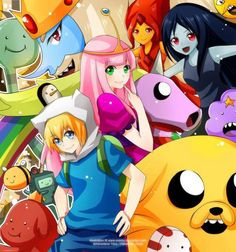This is awesome for two reasons: #1 it's adventure time who doesn't like adventure time??  #2 it's anime that just makes it 70000 times better :):):)