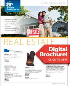 Need promotional product ideas for your client? Check out this digital flip book on Real Estate.