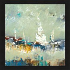 Breakwater Bay 'Sailing Away' Painting Print on Wrapped Canvas Size: Painting Prints, Canvas Prints, Art Prints, Canvas Frame, Canvas Size, Big Canvas, Framed Artwork, Framed Prints, Wall Art