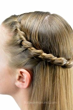 Uneven French Rope Twist from BabesInHairland.com #hair #twist #ropebraid #hairstyle