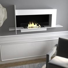 Contemporary Design Glo Flame Wall Fireplace - GoGetGlam