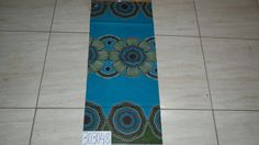 Afrikanische floral Sarong Stoff / Blue floral von handicraftafrica