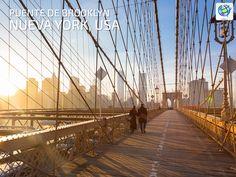 Caminar por el puente Brooklyn en #NewYork