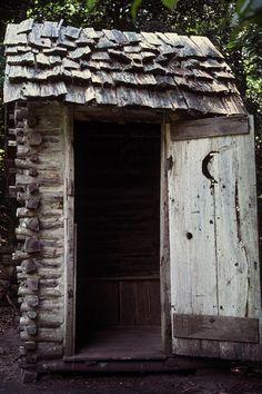 Log Outhouse Photograph  - Log Outhouse Fine Art Print