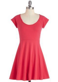 Boundlessly Styled Dress. Your favorite thing about this sleek and simple dress, aside from the vivid shade of strawberry, is that it can be infinitely styled. #pink #modcloth