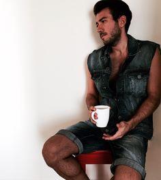 #men #jean #coffee