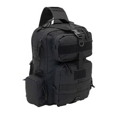 """Black """"Beat Feet"""" Tactical Conceal Carry Sling Bag has a concealed back pocket. It is made with a 14"""" mesh laptop or tablet sleeve and is Hydration compatible for 2 liter reservoir. This bag is your best friend when you need to BEAT FEET! #Army #USArmy #Navy #USNavy #Marines #CoastGuard #Marinecorps #Airforce #Spaceforce Black Beats, Conceal Carry, Coast Guard, Us Navy, Marine Corps, Marines, Carry On, Air Force, Army"""