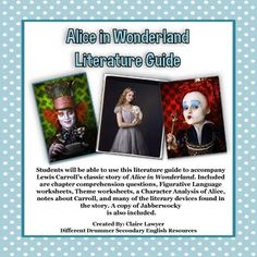 """literary analysis of the novel alice in wonderland by lewis carroll This term paper alice in wonderland analysis  lewis carroll's """"alice in wonderland"""" is a  how lazy and tired she is in the second paragraph of the novel:."""