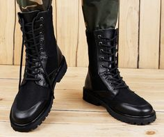 new styles b6b7f 8070e Mens Lace Up Work Desert Military Combat Outdoor High Top Shoes Ankle Boots  Flat