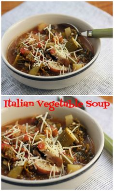 Italian vegetable soup {vegetarian} {The Perfect Pantry}