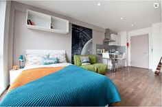 Discover Collegiate's luxury student accommodation in Cardiff, with a fitness suite, dinner party room and private cinema, all in reach of Capitol Centre. Student Apartment, Student Room, Student Living, Student House, Summit Homes, Common Room, Study Rooms, Property For Rent, Leeds