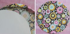 How to make perfect fabric circles