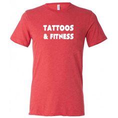 Tattoos & Fitness Shirt - Men's Workout Shirt - Fitness Shirt For Men #gym #crossfit #tattoos