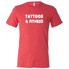 Tattoos & Fitness Shirt - Men's Workout Shirt - Fitness Shirt For Men #gym #crossfit #tattoos