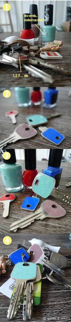 DIY, clefs personnalisées  sur www.grenierdidees.fr
