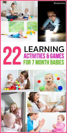 7 Month Old Baby Activities, Baby Learning Activities, Infant Activities, Sensory Activities, Seven Month Old Baby, Baby Month By Month, Montessori Baby, Baby Monat Für Monat, Baby Lernen