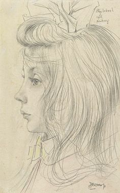 Portret van Elsje Lukwel by Jan Toorop on Curiator – http://crtr.co/1w6q