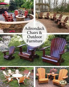 Shop the best selection of Adirondack Chairs, Adirondack patio furniture and wooden adirondack chairs to reflect your style and inspire your outdoor space. Find adirondack furniture & decor you love for the place you love most. Wood Adirondack Chairs, Adirondack Chair Cushions, Lounge Chairs, Outdoor Chairs, Outdoor Decor, Furniture Decor, Outdoor Furniture Sets, Outdoor Entertaining, Yard Ideas