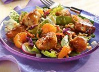 Dive into a salad with crispy chicken, crunchy veggies, sweet oranges and a tangy Asian dressing.