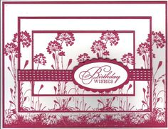 Triple Birthday Raspberry August by Stampin Wrose - Cards and Paper Crafts at Splitcoaststampers