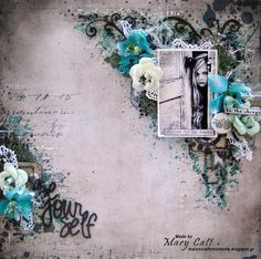 Mary's Crafty Moments: ''Be Yourself'' - A DT Layout for 2Crafty Chipboar...