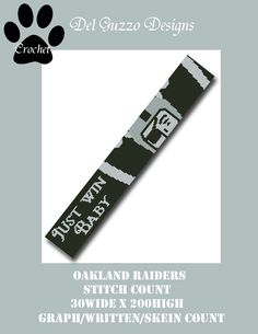 (4) Name: 'Crocheting : Oakland Raiders 30x200