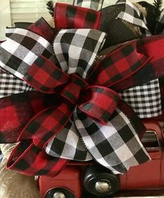 Discover thousands of images about Christmas Wreath Red Truck Wreath Red Truck Farmhouse image 4 Christmas Tree Bows, Christmas Red Truck, Christmas Mesh Wreaths, Merry Christmas Sign, Plaid Christmas, Christmas Decorations, Christmas Ideas, Xmas, Christmas Crafts