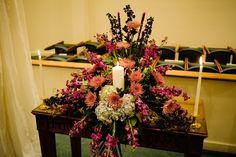 Unity candle arrangement