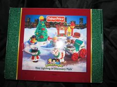 Fisher Price Little People New Tree Lighting in Discovery Park Christmas Box NIP ONE DAY AUCTION! | eBay