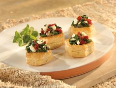 Spinach & Feta Cups *Tried these, easy little appetizers that look fancy and are tasty