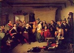 """""""Examination of a Witch"""" by Thompkins H. Matteson, 1853.  In the collection of the Peabody Essex Museum, Salem, MA. For more info, visit http://www2.iath.virginia.edu/salem/generic.html"""