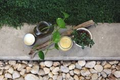 DIY citronella candles with eucalyptus... I know a few backyards that will benefit from these.