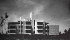 "Edificio de apartamentos ""Yuca"", Niño Obrero 1097 esq. calle Cerro de Colli, Zapopan, Jalisco, México 1968   Arq. Alejandro Zohn -  'Yuca' apartment building, Nino Obrero 1097, Zapopan, Jalisco, Mexico 1968"