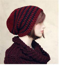 Teen Adult Slouchy Hat, Extra Slouch Beanie, Mens Hat, Womens Hat Winter Beanie, Dark Burgundy , Winter Ski  Hat