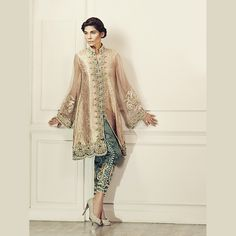 Peach Brocade jacket worked beautifully in Pearls and Crystal #maximalistdesign #luxury #classicgrandeur #timelesselegance #ammarakhanoriginals