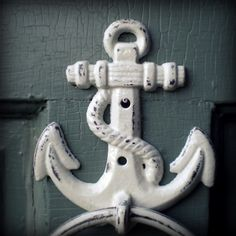 cast iron anchor.