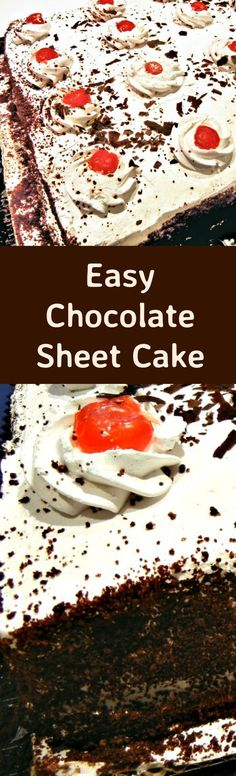 Quick Double-Chocolate Sheet Cake Recipe — Dishmaps