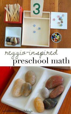 reggio inspired preschool math - wildflower ramblings #play