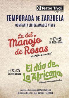 Temporada de Sarsuela de la Compañía Lírica Amadeo Vives. Teatre Tívoli (Barcelona). Del 17 al 27 de setembre