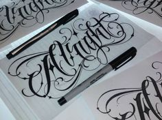 Tattoo Lettering Design, Chicano Lettering, Cool Lettering, Types Of Lettering, Script Lettering, Graffiti Lettering, Tattoo Fonts Alphabet, Hand Lettering Alphabet, Typography Letters