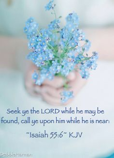 Seek ye the LORD while he may be found, call ye upon him while he is near:
