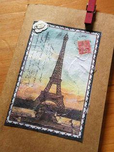 Parisian Eiffel Tower Moleskine Notebook      by aunaturelle, $7.00