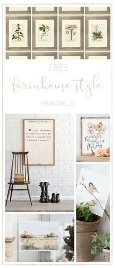 These free farmhouse printables are such a simple way to fill your home with farmhouse charm! www.makingitinthemountains.com