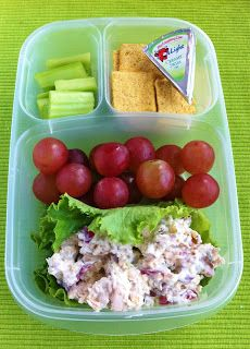 Roasted Chicken Salad, Holiday Grapes, Celery, Wheat Thins, Cheese