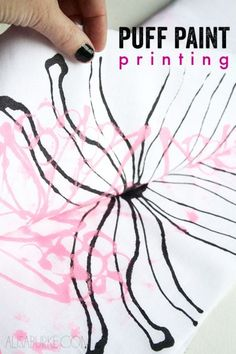 Make Puffy Paint Printed Fabric