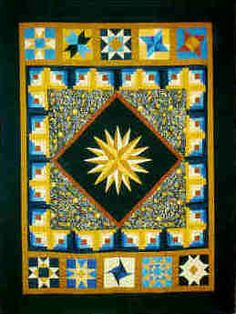 Groote Squares raffle quilt. I made the mariners' compass.