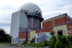 Teufelsberg, Berlin. Abandoned NSA spy listening station. Listening Station, Berlin, All That Remains, Derelict Places, Time And Tide, Tall Tales, Urban Exploration, Abandoned Buildings, Cold War